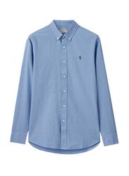 Giordano Oxford Long Sleeve Shirt for Men, Small, Blue