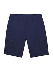 Giordano Cotton Casual Cargo Shorts for Men, Small, Blue