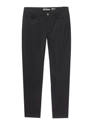 Giordano Low Rise Twill Pants for Men, 36 US, Signature Black