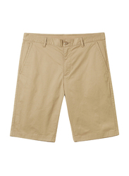 Giordano Stretchy Mid-Low Rise Casual Shorts for Men, 38 US, Brown