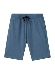 Giordano G-Motion Double Knit Shorts for Men, Small, Blue