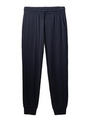 Giordano Mid Rise Slim Tapered Jogger Pants for Men, Medium, Navy Blue