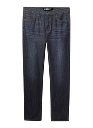 Giordano Moustache Thin Straight Jeans for Men, 32 US, Blue