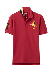 Giordano Short Sleeve 3D Napoleon Polo Shirt for Men, Double Extra Large, Red