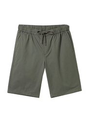Giordano Slim Fit Elastic Waist Cotton Casual Shorts for Men, Extra Large, Green