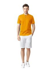 Giordano Luxury Touch Short Sleeve Polo Shirt for Men, Medium, Yellow