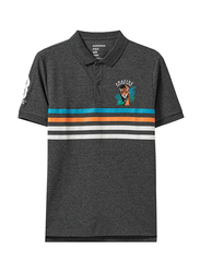 Giordano Short Sleeve Amazon Series Embroidery Polo Shirt for Men, Small, Black