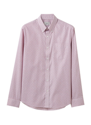 Giordano Cotton Wrinkle Free Shirt for Men, Small, Pink