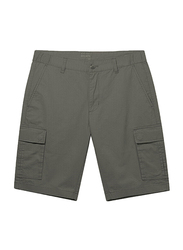 Giordano Cotton Casual Cargo Shorts for Men, Medium, Green