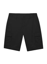 Giordano Cotton Casual Cargo Shorts for Men, Large, Black