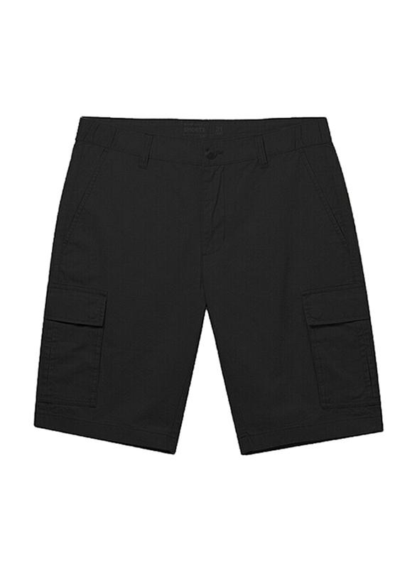 Giordano Cotton Casual Cargo Shorts for Men, Medium, Black