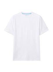 Giordano Crew Neck Shot Sleeve T-Shirt for Men, Large, White
