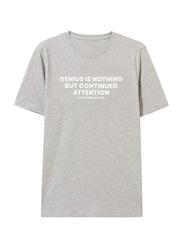 Giordano Short Sleeve Printed T-Shirt for Men, Medium, Grey
