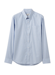 Giordano Cotton Wrinkle Free Shirt for Men, Small, Blue