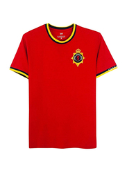 Giordano Cotton Short Sleeve T-Shirt for Men, Extra Large, Red
