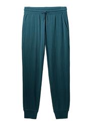 Giordano Mid Rise Slim Tapered Jogger Pants for Men, Medium, Blue