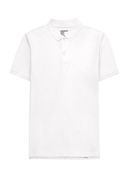 Giordano Luxury Touch Polo Shirt for Men, Double Extra Large, Signature White