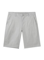Giordano Stretchy Mid-Low Rise Casual Shorts for Men, 38 US, Grey