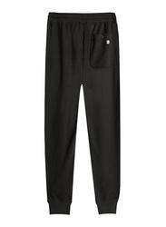 Giordano Zip Pocket Slim Joggers for Men, Medium, Black