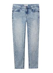 Giordano Low Rise Slim Tapered Denim Pants for Men, 32 US, Indigo 4