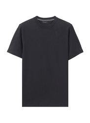 Giordano Short Sleeve Crew Neck T-Shirt for Men, Double Extra Large, Black