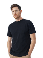 Giordano Short Sleeve Interlock Smart T-Shirts for Men, Double Extra Large, Black