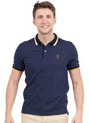 Giordano Deer Polo Shirt for Men, Small, Signature Navy Blue