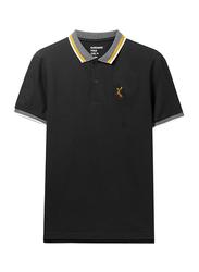 Giordano Deer Polo Shirt for Men, Small, Signature Black