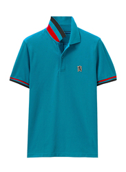 Giordano Small Lion Polo Shirt for Men, Large, Green