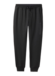 Giordano G-Motion Mid Rise Slim Tapered Jogger Pants for Men, Small, Signature Black