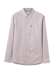 Giordano Roll Up Sleeve Oxford Slim Shirt for Men, Small, Purple