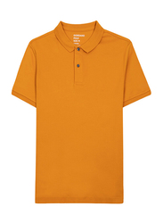 Giordano Luxury Touch Polo Shirt for Men, Double Extra Large, Yellow