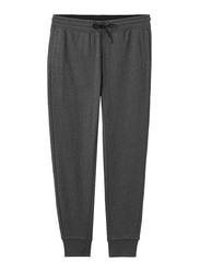 Giordano Draw String Joggers for Men, Large, Light Black