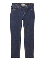 Giordano Low Rise Slim Tapered Denim Pants for Men, 32 US, Rinse Washed