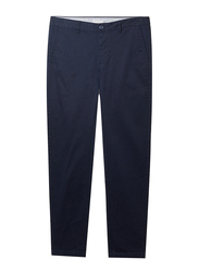 Giordano Low Rise Slim Tapered Khakis Pants for Men, 29 US, Navy Blue