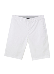 Giordano Stretchy Mid-Low Rise Casual Shorts for Men, 36 US, White