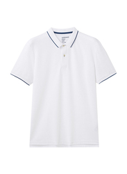 Giordano Contrast Tipping Short Sleeve Polo Shirt for Men, Extra Large, White