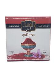 Asal Persian Filament Saffron Metal Tin, 5 grams