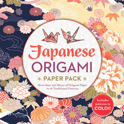 Japanese Origami Paper Pack: More than 250 Sheets of Origami Paper in 16 Traditional Patterns, Paperback Book, By: Inc. Sterling Publishing Co.