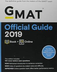 GMAT Official Guide 2019: Book + Online, Paperback Book, By: GMAC (Graduate Management Admission Council)