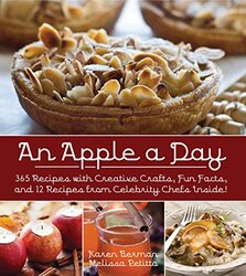 AN APPLE A DAY - 365 DELICIOUS APPLE RECEPIES, Hardcover Book, By: KAREN BERMAN