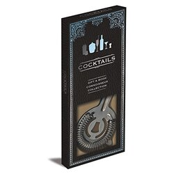 Cocktails Gift Set: Book and Cocktail Strainer, Paperback, By: Parragon