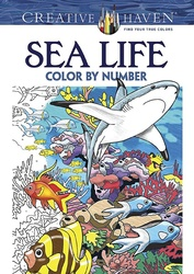 Creative Haven Sea Life Color by Number Coloring Book, Paperback Book, By: George Toufexis