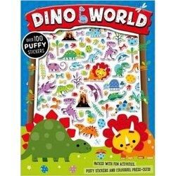 Dino World Puffy Sticker Activity Book, Paperback Book, By: Stuart Lynch