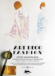 Art Deco Fashion: Artists' Colouring Book, Paperback Book, By: Pepin Van Roojen