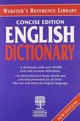 Websters Concise English Dictionary, Paperback, By: Webster