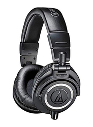Audio Technica ATH-M50x Wired Over-Ear Headphones, Black