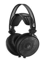 Audio Technica AUD ATHR70X Professional Open-Back Reference 3.5mm Jack Over-Ear Headphones, Black