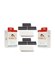 Canon KP-108IN Color Ink and Paper Set for Canon Selphy CP Series, 100 x 148mm, 216 Sheets, White