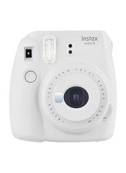 Fujifilm Instax Mini 9 Instant Camera, with 60mm f/12.7 Lens, Smoky White